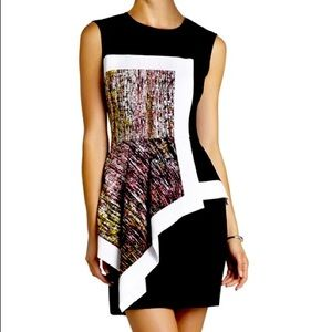 BCBGMAXAZRIA Alessandra Dress Drape Sketch Print
